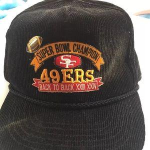 VINTAGE SAN Francisco 49ers Hat SUPER BOWL CHAMPS